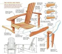 folding adirondack chairs plans | projects | Pinterest ...