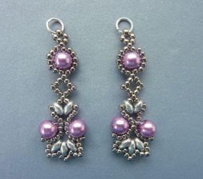 FREE beading pattern: Lotus Lace Earrings #Seed #Bead #Tutorials