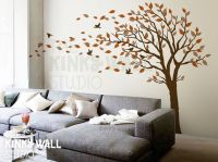 Blowing Tree Wall Decal, bedroom Wall decals wall sticker ...