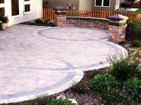 Paver patio designs, Patio design and Knee walls on Pinterest