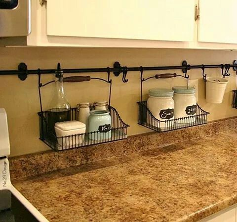 Ideas For Organizing A Small Kitchen Furniture Hanging