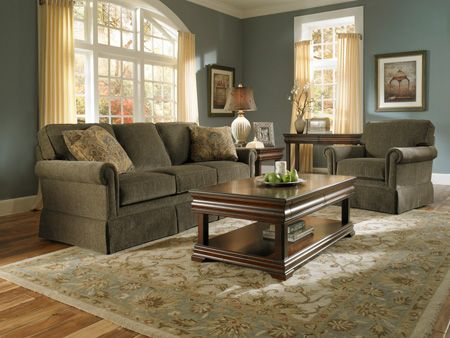 broyhill sleeper sofa lee industries slipcovered living room paint ideas with olive green couches | audrey ...