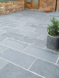 Black/Grey Slate Paving Patio Garden Slabs Slab Tile ...