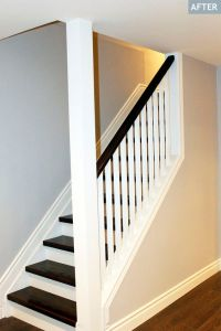 Partial Open Staircase | Basement staircase after. Love ...