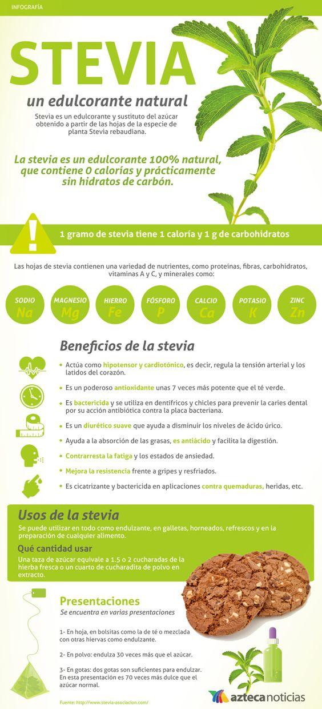 STEVIA, un edulcorante natural #infografia: