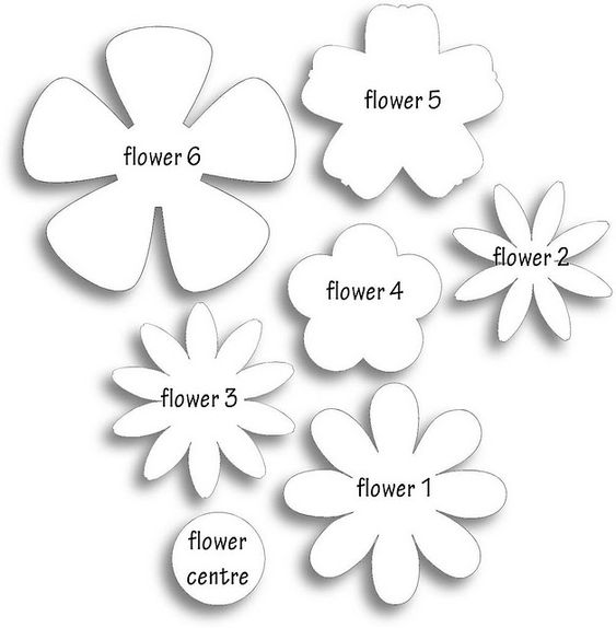 Different flower patterns, maybe for making flower pins