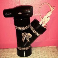 Hair dryer & straightener holder out of pvc pipe | Crafts ...