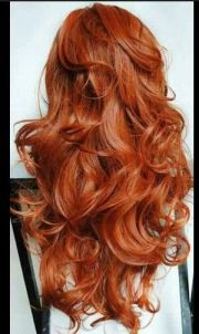 long layered copper red hair