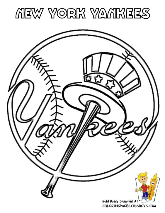 Coloring, New york yankees and York on Pinterest