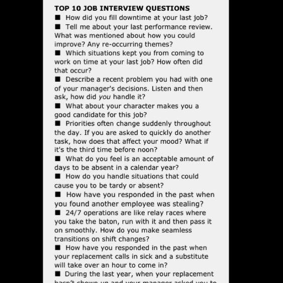 Top Ten Job Interview Questions Wise Knowledge