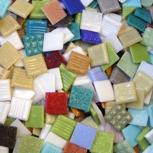 Discount mosaic glass tile for artists and crafters. On