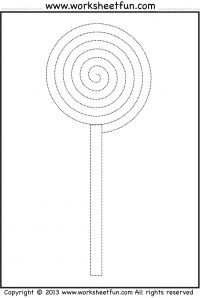 Candy – Spiral Tracing and Coloring
