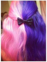 cotton candy hair purple