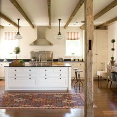 Best Floors For Kitchens Unfinished Kitchen Cart Cabinets, Islands And Exposed Beams On Pinterest