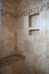 Briargate bathroom remodel, Colorado Springs, travertine ...