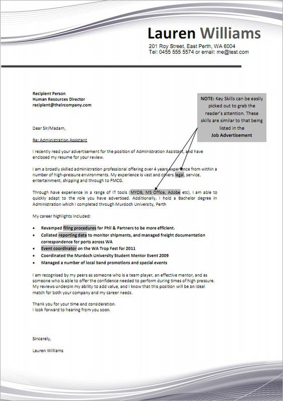 job cover letter sample  What I should be doing right now