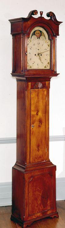 tall case clock, John Wilbank, about 1781-1790: