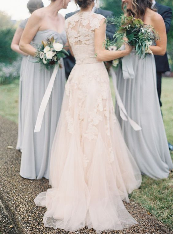 Rose Blush & Slate Grey wedding Inspiration: Wedding Colour Ideas see more at http://www.wantthatwedding.co.uk/2015/07/26/rose-blush-slate-grey-wedding-inspiration-wedding-colour-ideas/: