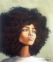 curly hair perms and afro art