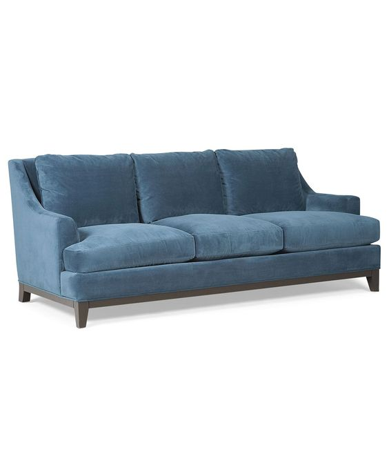 chloe velvet tufted sofa living room furniture collection sure fit slipcovers clic neutrals cover shops, couch and blue sofas on pinterest