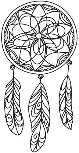 Delicate Dreamcatcher design (UTH4898) from UrbanThreads