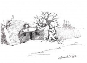 Stuart Craig's pencil sketch for