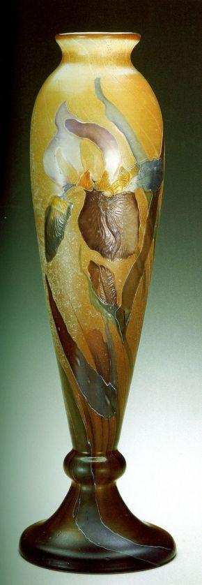 Emile Galle  Art Nouveau Iris Vase: