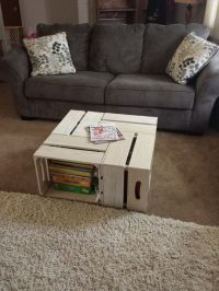 Coffee Table rustic apple crate coffee table. by ...