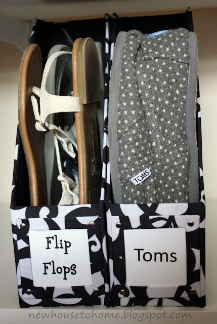 Awesome ways to recycle cereal boxes. Use them to store flip flops! Great upcycle!