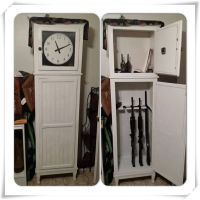 Unique clocks, Gun cabinets and Guns on Pinterest