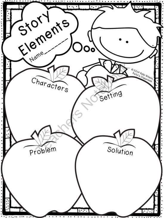 Story Elements Graphic Organizer (apples, ELA, language