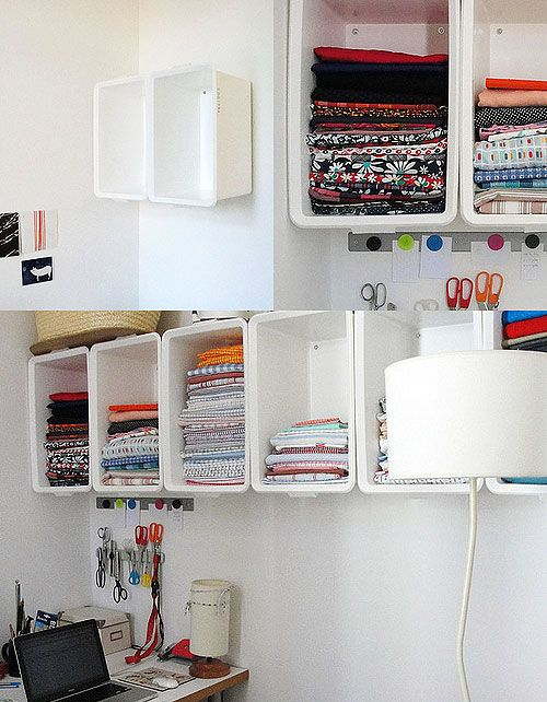 Do It Yourself To The Wall And Craft Room Storage On