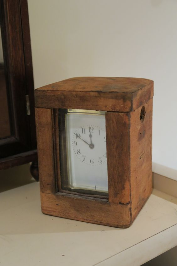 Vintage Antiqued Wooden Chest Fire Brigade Box Blue Watch To Ensure A Like-New Appearance Indefinably