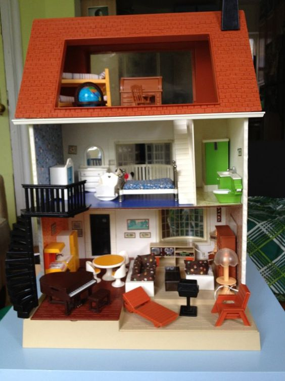 Vintage fisher price Dollhouses and Fisher price on Pinterest