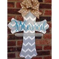 Spring Door Decoration: Personalized Cross Door Hanger ...