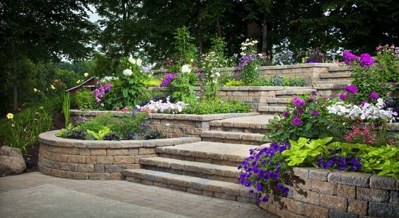 tiered landscaping