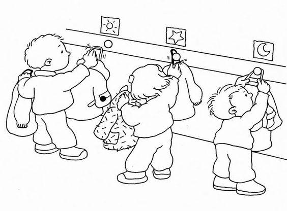 Dibujos para colorear sobre normas de convivencia en el