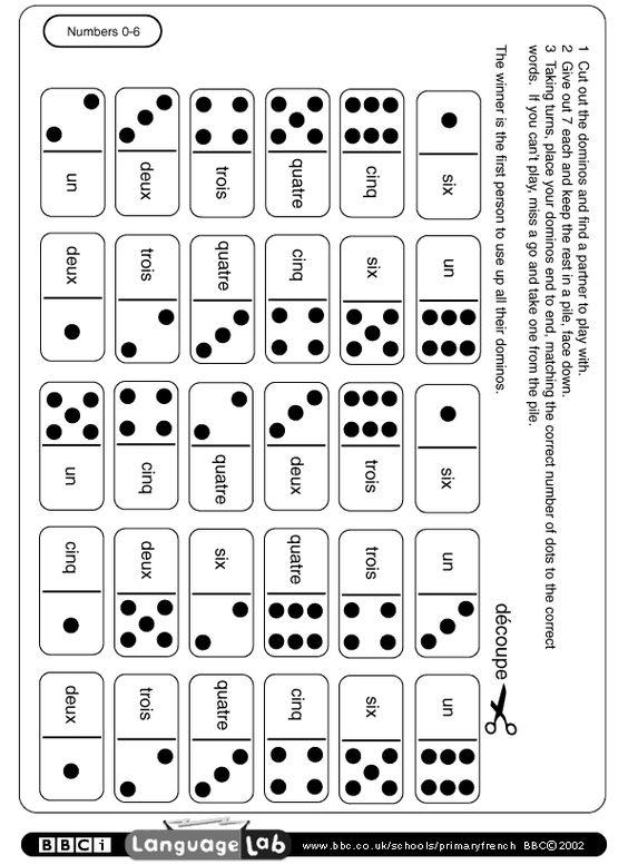 À télécharger: un jeu de domino pour travailler les
