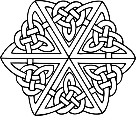 Celtic Knot and Icon Coloring Pictures These coloring