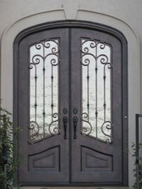 Iron doors, Double doors and Clarks on Pinterest