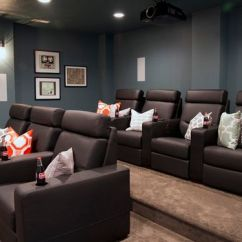 Theater Chairs Rooms To Go Cb2 Orange Chair Design Tips For Turning Your Basement Into A Media Room -decorated Life