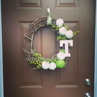 Diy monogram, Front door wreaths and Door wreath on Pinterest