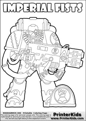 Space marine, Online coloring and Colouring sheets on