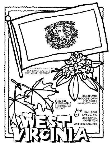West Virginia State Symbol Coloring Page by Crayola. Print