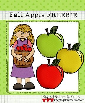 clip art apples and fall