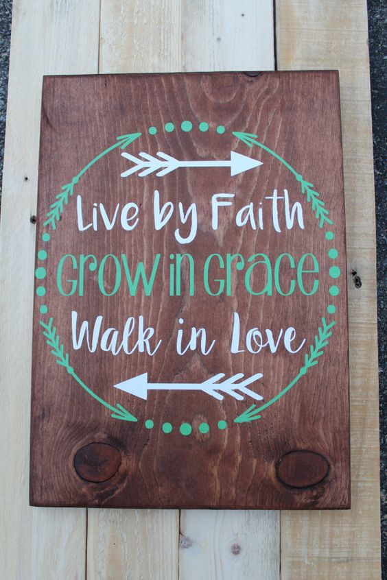 Live By Faith Wood Sign Home Decor Hand By SweetMonkeyBoutique