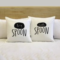 His and Hers Pillow Covers - Big Spoon and Little Spoon ...