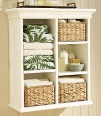 Wall shelf unit with wicker baskets | Home -Decor ...