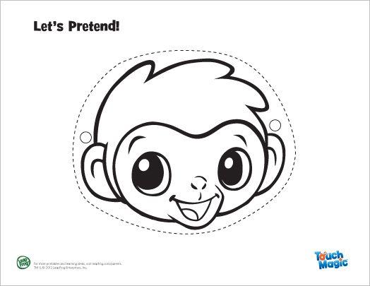 LeapFrog Touch Magic Baby Animal Masks: Monkey Mask, Hippo