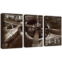 Vintage airplanes, Triptych and Canvas wall art on Pinterest